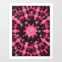 Christmas Mosaic Mandala Art Print
