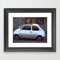 Fiat 500 Framed Art Print