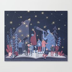 Astronomers Canvas Print