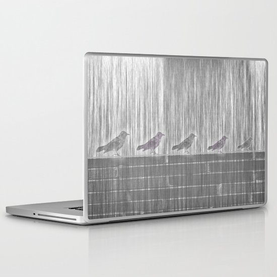 FIVE LITTLE BIRDS Laptop & iPad Skin