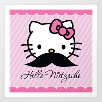 Hello Nietzsche Art Print
