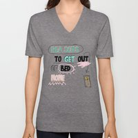 Reasons to get Out of BED (NONE) Unisex V-Neck