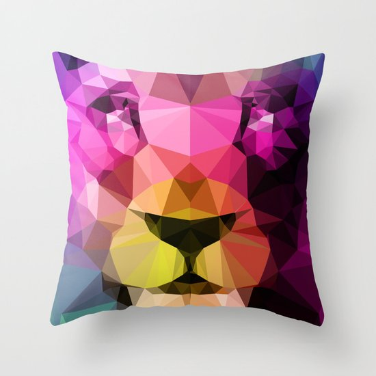Wild Neon 01a. Throw Pillow