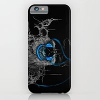 Blue Headphones iPhone 6 Slim Case