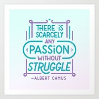 Camus on Passion Art Print