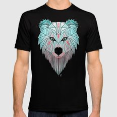 polar bear Mens Fitted Tee SMALL Black