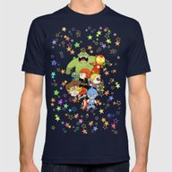 Babie Avengers Mens Fitted Tee Navy SMALL