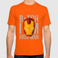 B*tch i'm ironman Mens Fitted Tee Orange SMALL