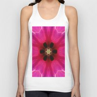 Pink Flower Abstract Unisex Tank Top