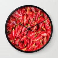 UN ROJO AJÍ EN PALOQUEM… Wall Clock