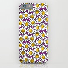 Purple Smiley Daisy Flower Pattern iPhone 6 Slim Case