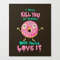 Killer Donut Canvas Print