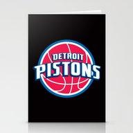 NBA - Pistons Stationery Cards