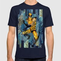 Wolverine Japan Forest Mens Fitted Tee Navy SMALL