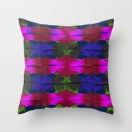 Throw Pillow featuring Green Butterflies by Marianna Tankelevich