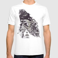 Stranded on Alpha Centauri White Mens Fitted Tee SMALL