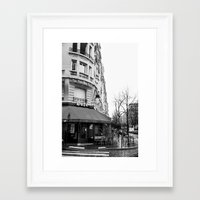 Parisian Cafe Framed Art Print