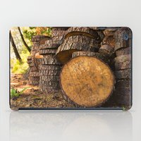 Wood pattern in the forest iPad Case