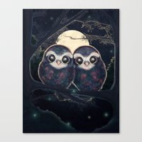 Cute Owls Canvas Print