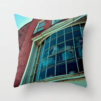 Window Through The Past Throw Pillow