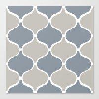 MARRAKECH PATTERN GreyBlue Canvas Print