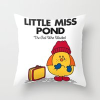 Little Miss Pond Throw Pillow