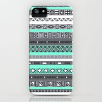 iPhone 5s & iPhone 5 Cases featuring Tiffany Turquoise Aztec Print by RexLambo
