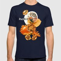 Pacifica 1 - South Pacific Seashells Mens Fitted Tee Navy SMALL