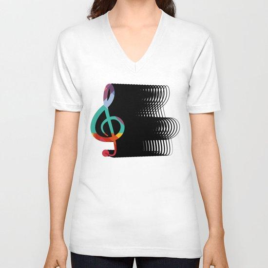 Treble Clef  V-neck T-shirt
