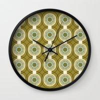 Vintage: Olive Circles Wall Clock