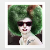 Willow Fro Art Print