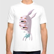 [A'sHMs] #DOUBLEFACE  Mens Fitted Tee White SMALL