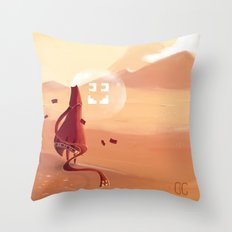 The journey of the brave knight  Throw Pillow