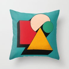 Shapeville Throw Pillow