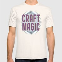 Craft Magic // Berry Mens Fitted Tee Natural SMALL