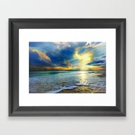 Blue Seascape Art Print … Framed Art Print