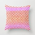 Fuschia - Chevron Throw Pillow