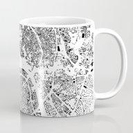 Moscow Map Schwarzplan O… Mug