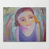 Canvas Print featuring The Girl In The Kaliedoscope by Tara Bateman