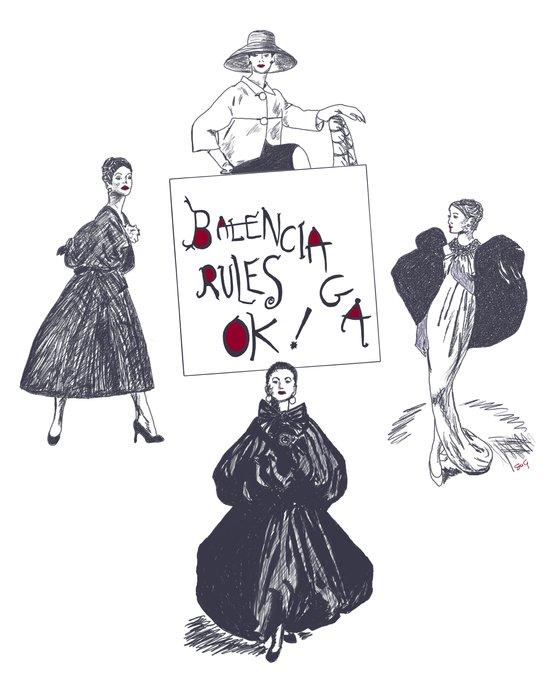 Balenciaga Rules OK! Art Print