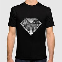 Diamond Mens Fitted Tee Black SMALL