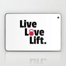 Live, Love, Lift Gym Quote Laptop & iPad Skin
