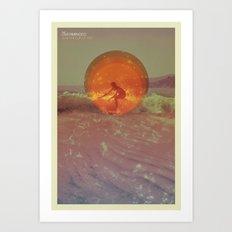 Sun in a cup of sea Art Print
