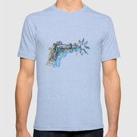 Gun Mens Fitted Tee Athletic Blue SMALL