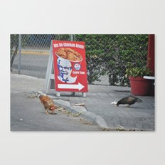 Chicken Right? Wrong! Canvas Print