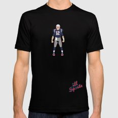 Pats - Tom Brady Mens Fitted Tee SMALL Black