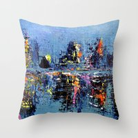 Night Brights Throw Pillow