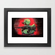 Camo Duck Framed Art Print