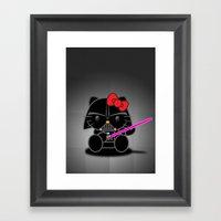 Dark Kitten Framed Art Print