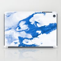 Paint 3 abstract modern art wall art for college dorm school trendy painting brushstrokes water wave iPad Case